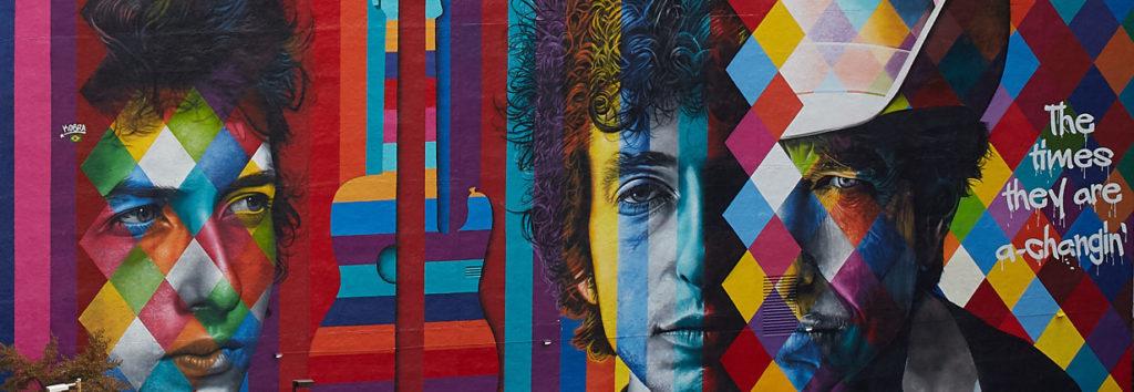 Bob Dylan mural by Eduardo Kobra